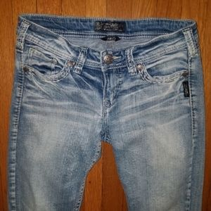 Silver Aiko jeans. Size 26. Size 2.